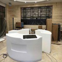 LG豪美思HI-MACS和杜邦可丽耐DUPONT CORIAN人造石收银台定制