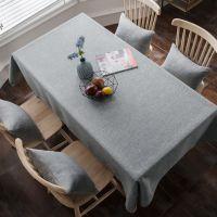 纯色茶几桌布布艺棉麻小清新长方形餐桌垫现代简约客厅座布餐桌布