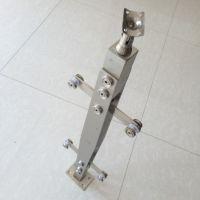 金聚进 厂家制作 304不锈钢菱形阳台楼梯立柱 室内玻璃防护立柱