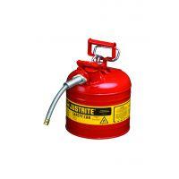 JUSTRITE 7.5升钢制带软管安全罐7220120Z 天津北京沈阳一级代理
