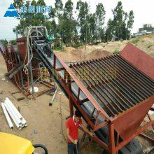 江苏洗沙子机器多少钱一套 洗沙子专业设备就用轮式洗沙机加滚筒筛