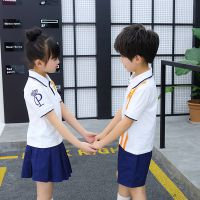 六一英伦风儿童套装校服男女童短袖表演班服幼儿园老师园服两件套