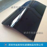 黑茶色亚克力安全挡板 有机玻璃设备门板 深圳沙井半透明机盖
