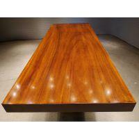 厂家直供奥坎实木大板桌260长96宽原木茶台餐桌办公老板桌简约现代