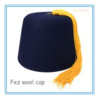 土耳其金色流苏黑色羊毛帽Morocco green wool Cap 黑色菲斯羊毛帽