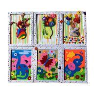 儿童创意礼物不织布拼图DIY材料包幼儿园手工画制作无纺布粘贴画