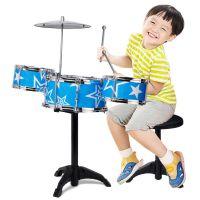 1190儿童架子鼓玩具 大号仿真电镀爵士鼓三鼓带椅子敲打乐器批发