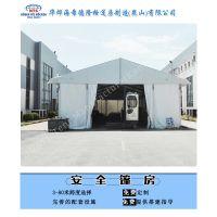铝合金仓库帐篷四面采用的是彩钢板墙体 安全稳固 具有防盗的功能