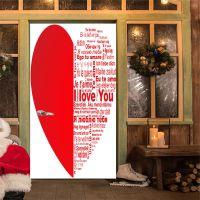 千言爱语甜蜜爱心家居门贴墙贴地贴 欧式创意装饰 速卖通热销