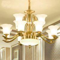 现代时尚唯美水晶吊灯古典中式灯具 复古云石吊灯