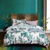 美式纯棉60s埃及长绒棉植物四件套贡缎全棉床单床上用品四件套