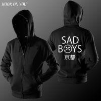 外贸新款Sad Boys男士长袖连帽春秋薄款保暖卫衣潮