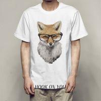 FOX 狐狸系列印花运动小清新新品日系上衣体恤Ulzzang创意T恤热款