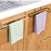 厨房抹布挂架免打孔门背式挂架浴室免钉式可折叠毛巾架挂钩毛巾杆