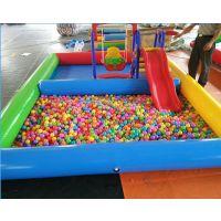 儿童充气垫小型鱼池 广场儿童玩耍充气钓鱼池厂家 10平米充气沙滩池最低售价