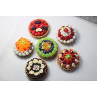 新款仿真食玩树脂白色草莓大蛋糕 DIY手工迷你仿真蛋糕配件
