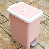 厂家直销 创意卡通垃圾桶 杂物收纳清洁垃圾桶 方形垃圾桶 家用