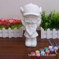 D区摔不坏石膏娃娃白胚儿童DIY手工益智玩具陶瓷彩绘工艺品储蓄罐