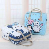 韩版旅行包可爱卡通短途行李包大容量防水旅行袋女手提学生旅游包