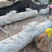 供应滚龙雕刻石头柱子 景点文化石柱子 精雕龙柱子