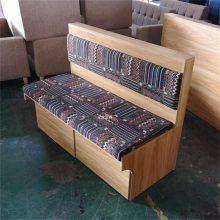 郴州高档西餐厅靠墙卡座沙发定做效果