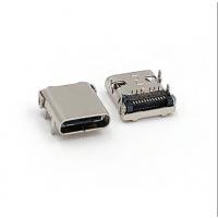 TYPE-C板上无弹前插后贴母座/USB 3.1 DIP+SMT/24PIN/脚长1.2后盖半包