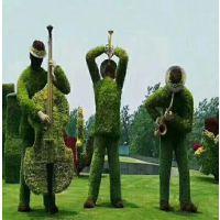 厂家仿真植物雕塑景赐仿真植物 绿雕仿真植物羚牛造型雕塑