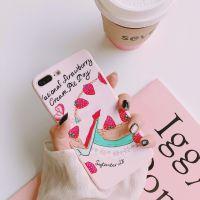 草莓蛋糕苹果X手机壳情侣iphone7plus/8/6S全包防摔软壳手机配件