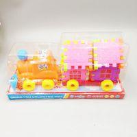 儿童手动惯性车 1:12塑料大号房子车模型 可拆卸儿童益智玩具