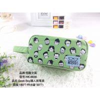 韩国笔袋男女生文具袋创意手绘卡通学生大容量铅笔袋帆布文具盒