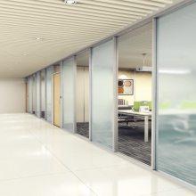 承接武汉 玻璃隔断工程 83/90/103/108型内钢外铝隔断墙 包墙隔断