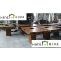 上海SH-227烧烤餐厅专用桌椅 餐厅实木桌椅定制 韩尔现代品牌工厂