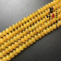 天然黄玛瑙5x8算盘珠多色扁珠创意diy手链饰品配件材料厂家批发