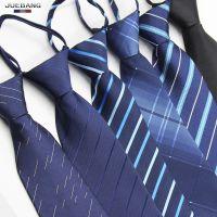 拉链式领带正装商务上班职业韩版易结婚学生拉得新郎懒人男士领带