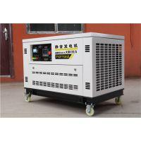 演唱会应急12千瓦静音汽油发电机