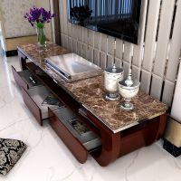 现代小户型大理石电视柜组合中式实木地柜套装家具客厅厂家直销