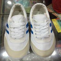 生胶底白色运动布鞋