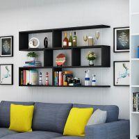 墙上客厅展示架组合格子壁柜打孔收纳置物架墙壁挂架简约架