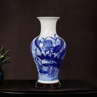 餐厅墙上立体壁挂釉下青花瓷花瓶 家居壁饰挂件装饰品青花瓷花瓶