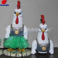 十二生肖动物树脂鸡摆件美式乡村住宅招财鸡手工定制树脂工艺品