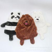 熊猫棕熊白熊三兄弟束口袋小背包旅行收纳袋礼物礼品包装袋刺绣