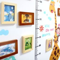 卡通鹿身高贴儿童房间相框画框墙客厅卧室墙壁装饰创意组合照片墙