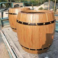 北京水泥仿木花箱仿木围树凳混凝土仿木种植花桶多少钱一个