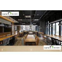 供应江苏华西集团HL-01餐厅桌椅 员工餐厅桌椅订做 韩尔简约现代品牌