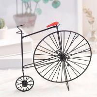 美式乡村复古简约铁艺自行车摆件装饰办公桌摆件工艺品礼品道具