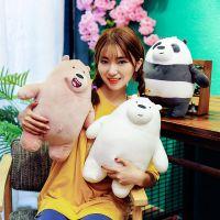 厂家直销新款萌熊羽绒棉软体可爱熊猫抱枕毛绒玩具公仔送朋友礼物