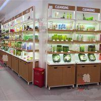 韩版化妆品展柜展示柜货架 护肤品背柜形象柜子店面装修