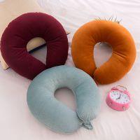 厂家直销颈枕可定制logo颈枕 纯色U型枕 保健颈椎枕 护颈枕 飞机