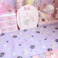 JSH粉色少女心露娜猫卡通可爱长餐垫软妹粘土桌垫学生书桌垫子背