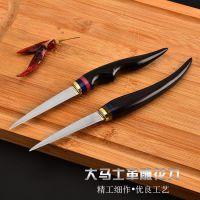 供应3.3寸厨用雕花刀 大马士革钢 厨房雕刻刀